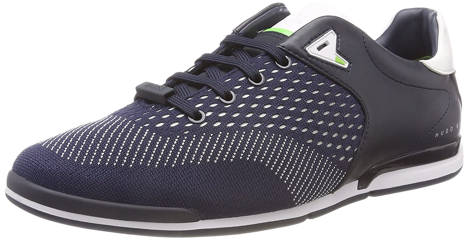 Boss Green Saturn_lowp_Act, Zapatillas para Hombre 44 EU|Azul (Dark Blue 401)