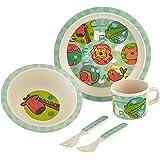 Culina Kids Bamboo 5-piece Dinnerware Set - Jungle Animals
