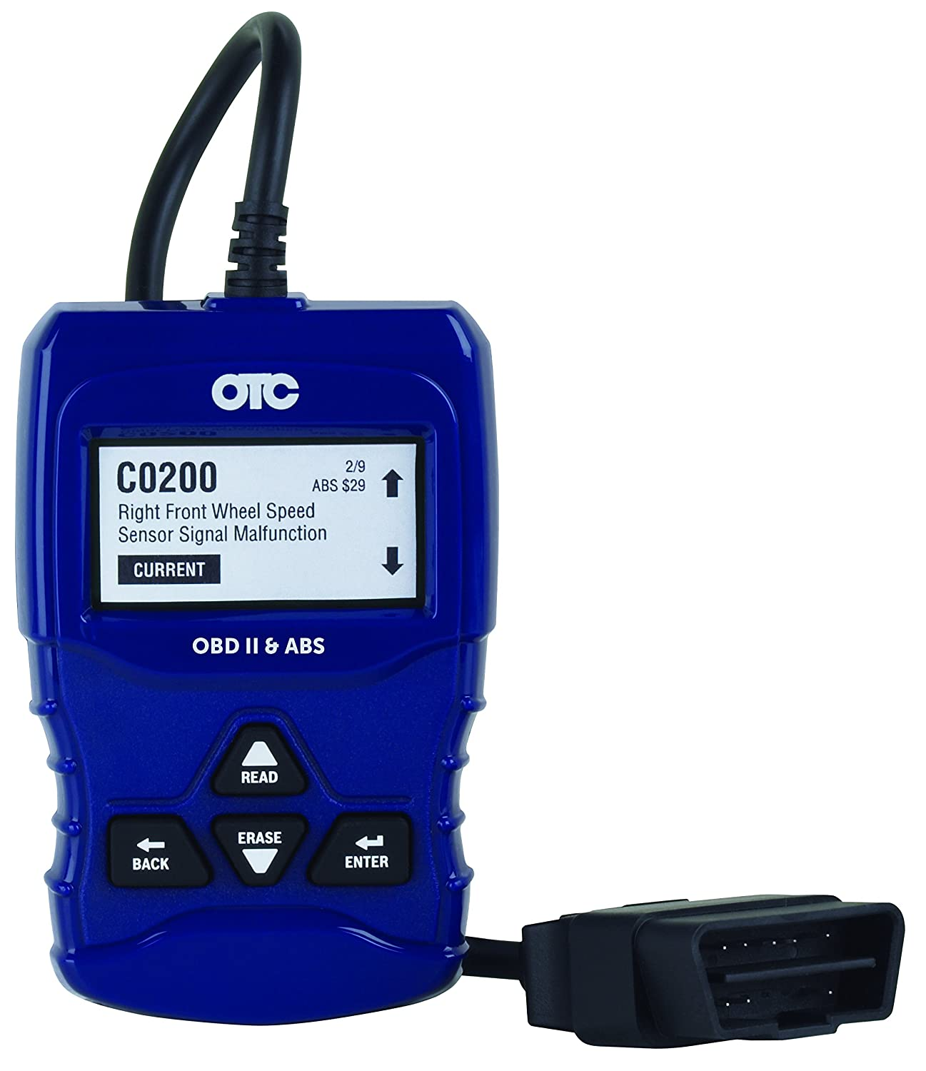 OTC Tools 3208 OBD II & ABS Scan Tool with Enhanced Engine and Transmission Codes