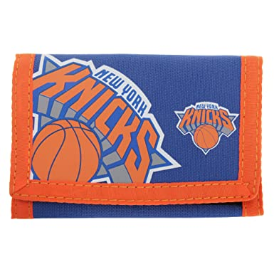 New York Knicks - Billetera/ Monedero/ Cartera de tela con velcro oficial para hombre
