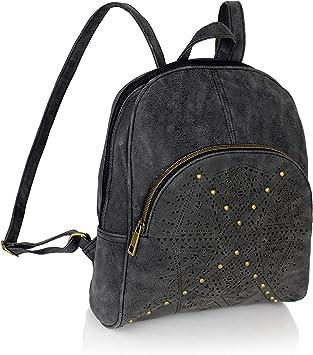 Bohemian Laser Cut Out Vegan Suede Daypack Bag Mini Cute Perforated Travel Backpack
