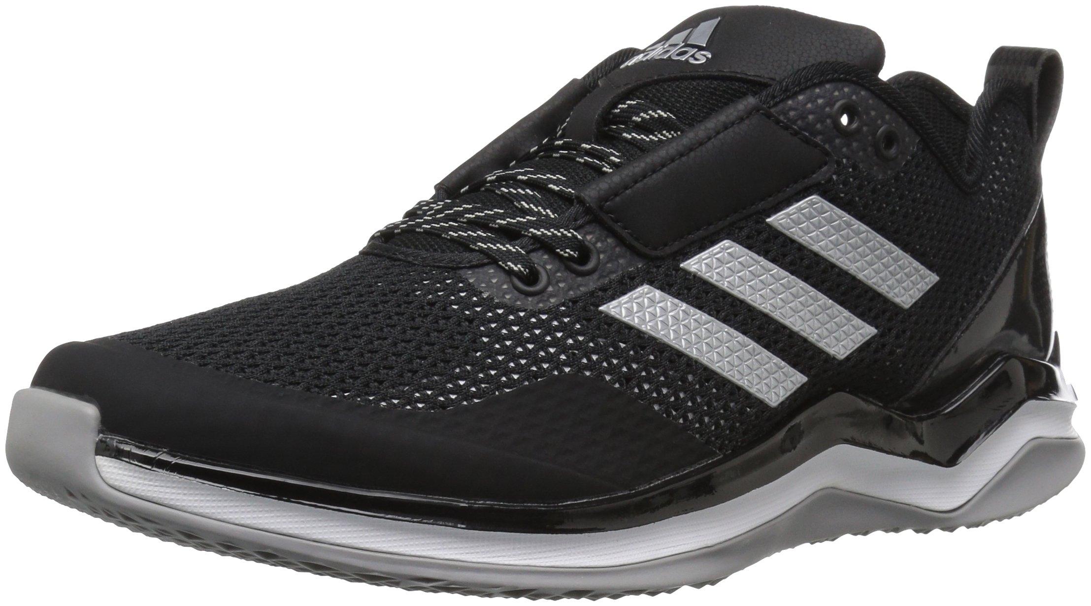 adidas Performance Men's Speed Trainer 3.0 Shoes, Black/Metallic Silver/White, (10 Medium US) by adidas