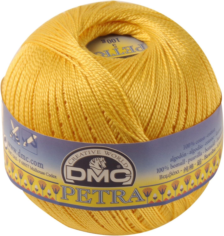DMC Petra Ovillo, 100% algodón, Amarillo, tamaño 3: Amazon.es: Hogar