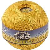 DMC Petra Yarn, 100 Percent Cotton, Yellow, Size 5