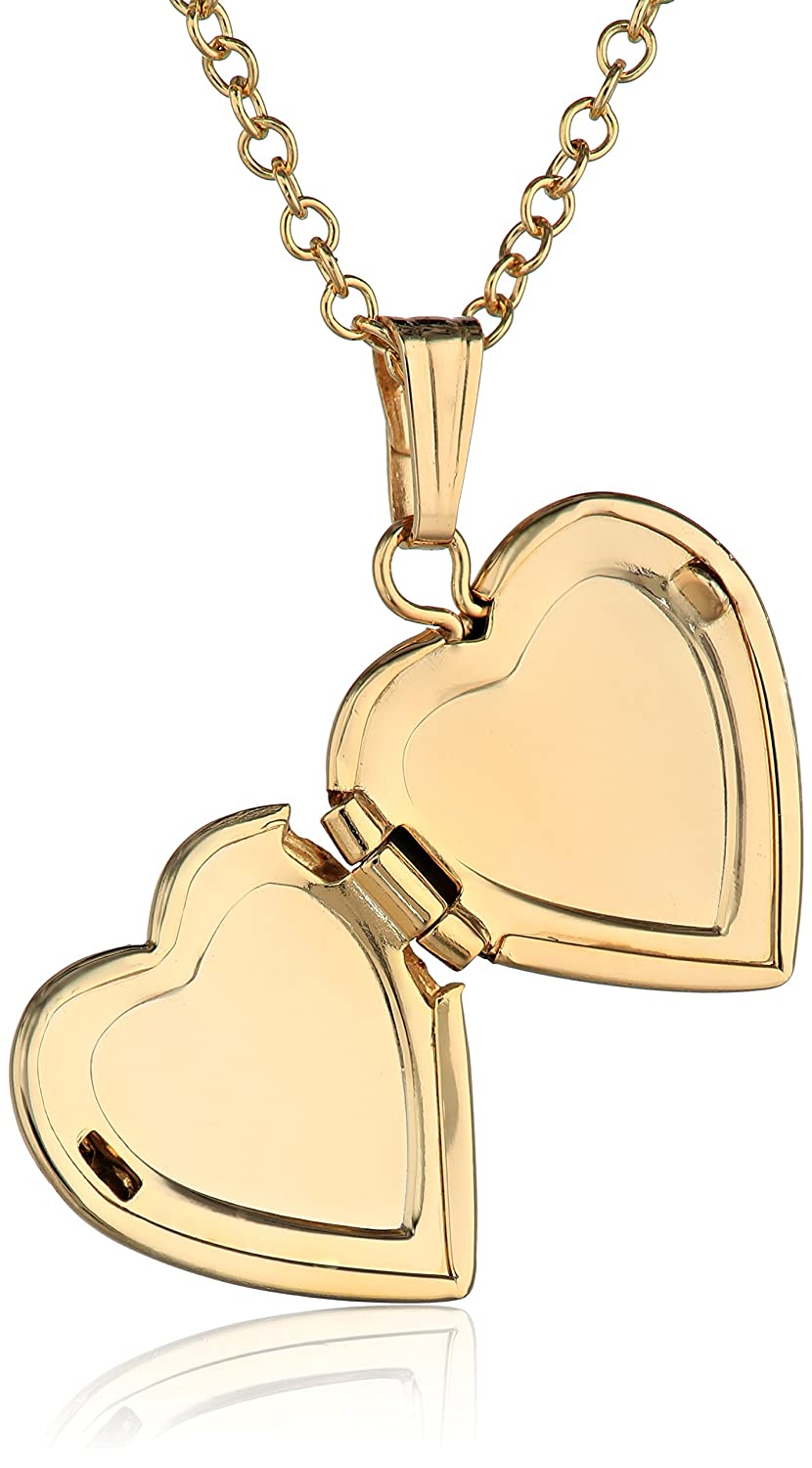 gold for heart locket shaped solid child lockets a best miracle necklace baby fresh