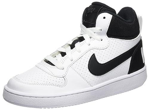 Nike Court Borough Mid GS, Zapatillas de Baloncesto Unisex niños, Blanco (White/Black), 37.5 EU: Amazon.es: Zapatos y complementos