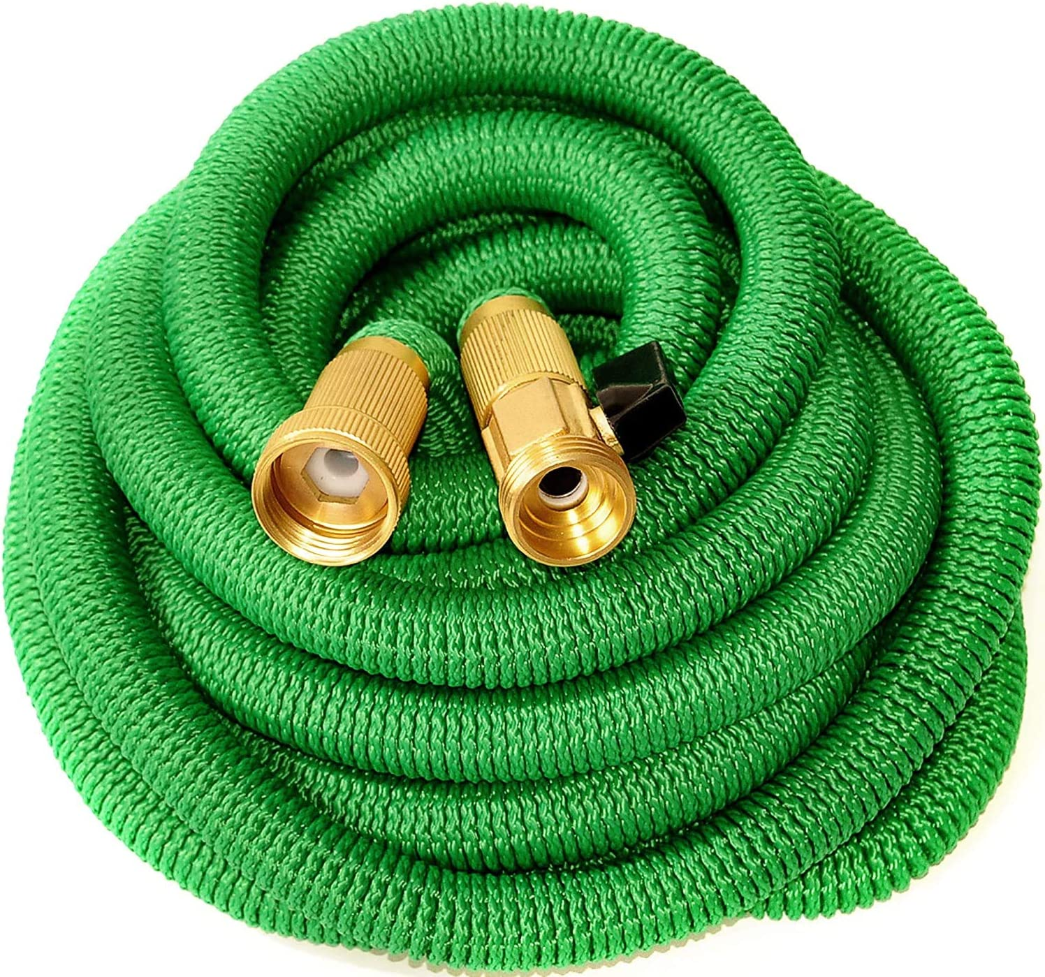Zemov Expandable Garden Hose Green 50 FT, New 2021 - Heavy Duty Triple Latex Core with 3/4