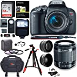 Canon EOS Rebel T7i Camera, EF-S 18-55 IS STM Lens Kit, Sandisk 64GB, Ritz Gear Premium SLR Camera Bag, Filter Kit, Flash and Accessory Bundle