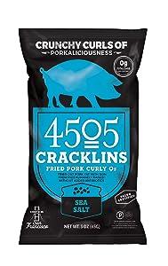 4505 MEATS Sea Salt Pork Cracklins, 3 Ounce