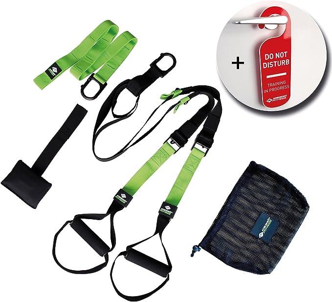 Schildkröt Fitness Sistema de entrenamiento en Suspensión, Negro/Verde, 960027