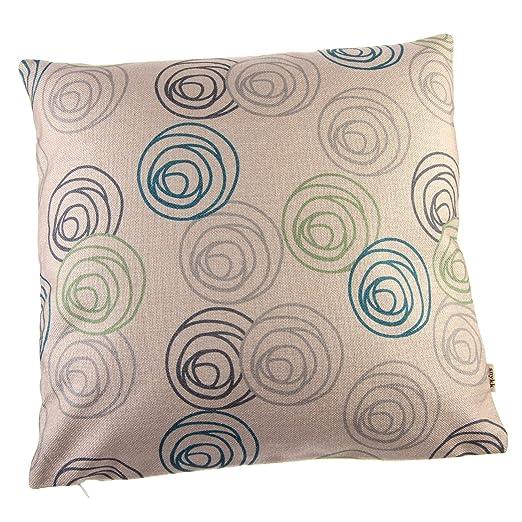 snykk Cojín 45 x 45 cm círculos Incluye relleno: Amazon.es ...