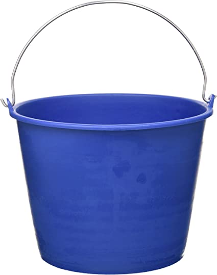Azul Cubo Agua Liso Reciclado Jardin202 6 litros