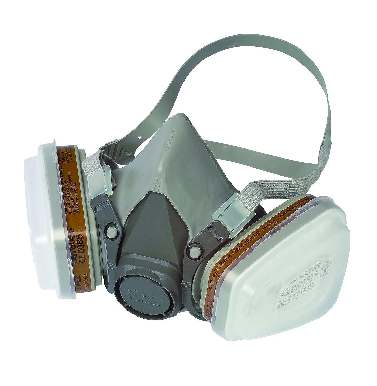 M C Mascarilla de seguridad  Semimáscara respiradora reutilizable para pintura con