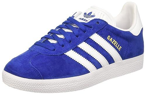 promo code d3f42 6a5af adidas Unisex Adults  Gazelle Low, Blue Blue (Collegiate Royal White Gold