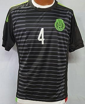 Nuevo México equipo nacional Rafael Márquez Away negro réplica de la camiseta adulto mediano