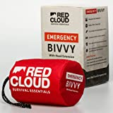 Red Cloud Company Emergency Sleeping Bag Mylar Thermal Bivvy Bag with Hood Extension - Utilize as an Emergency Blanket, Survi