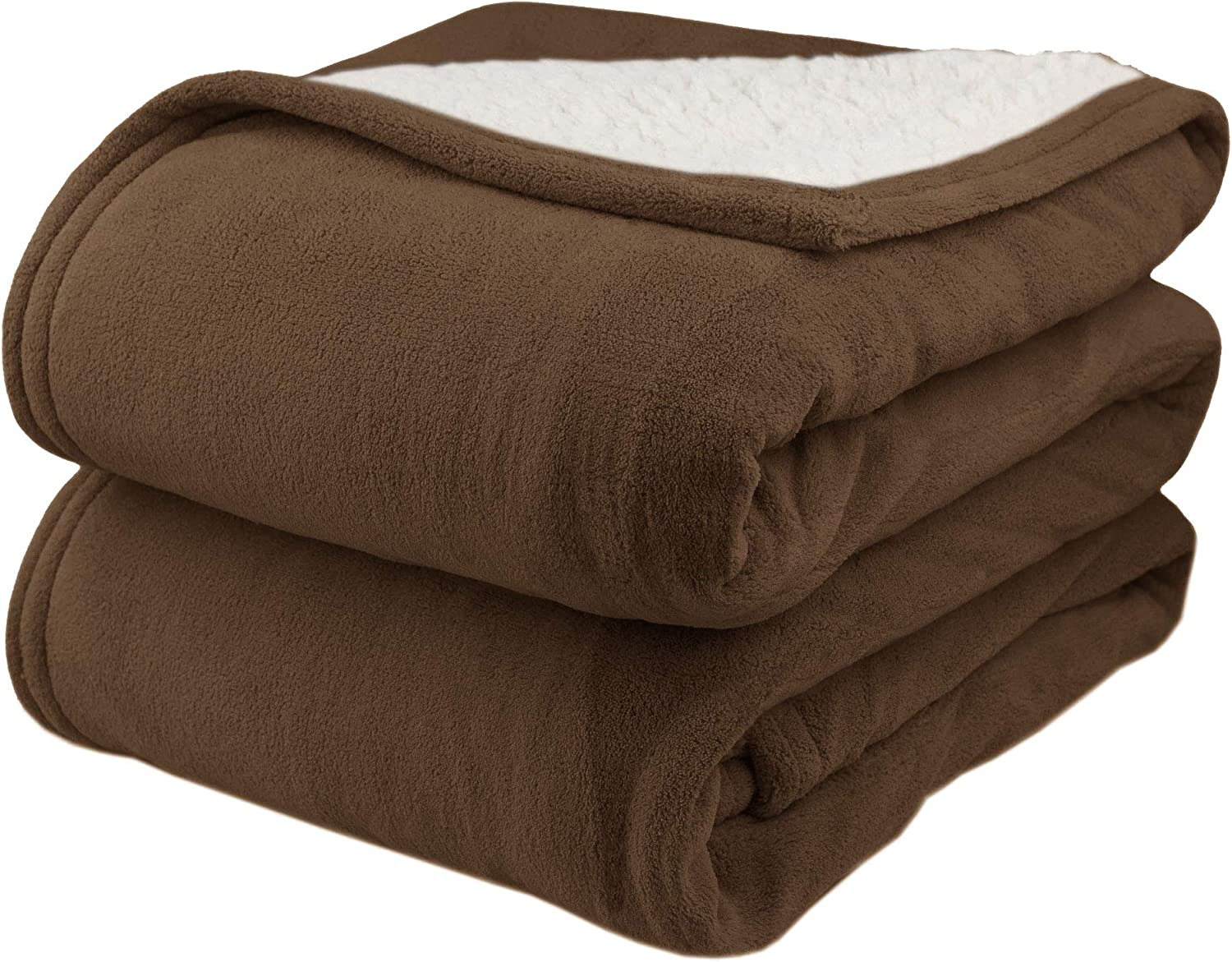 Pure WarmthMicroPlush Sherpa Electric Heated Blanket Twin Chocolate