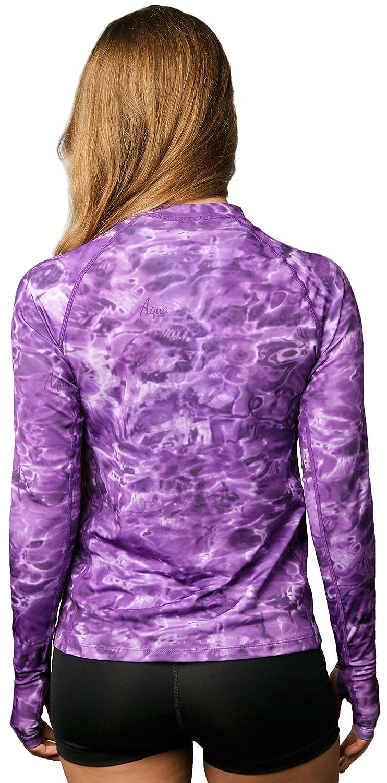 Aqua Design Womens Rash Guard Long Sleeve Swim Shirt Rashguard for Women