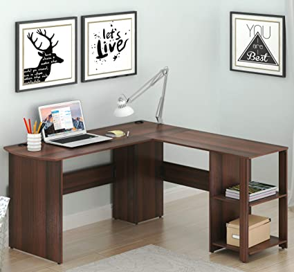 Merveilleux SHW L Shaped Home Office Wood Corner Desk, Espresso