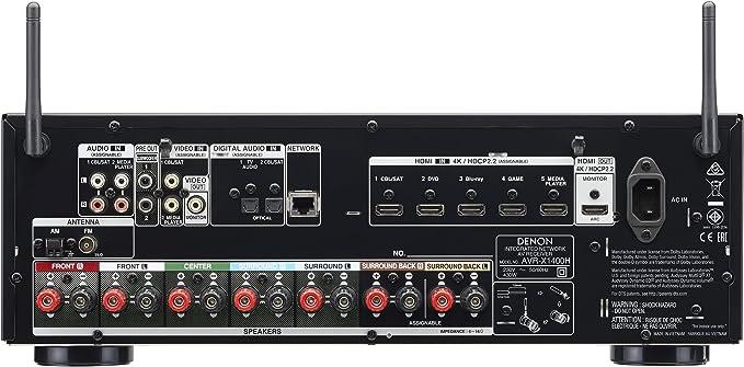 Denon AVR-X1400H - Receptor AV (80 W, 7.2 canales, Envolvente, 145 ...