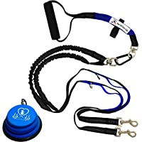 "Pet Fit For Life Light Weight 64"" Premium Dual Dog Leash with Comfortable Soft Grip Foam Rubber Handle and Integrated…"