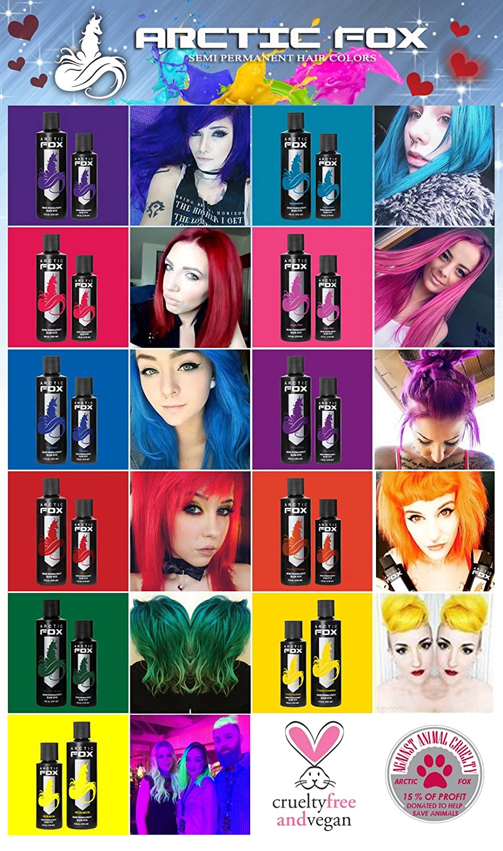 Amazon Arctic Fox 100 Vegan Semi Permanent Hair Color Dye