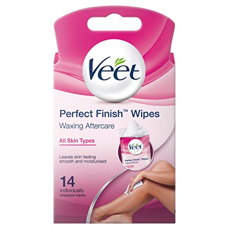 Veet Easy Wax Perfect Finish Wipes - Pack of 14 Wipes