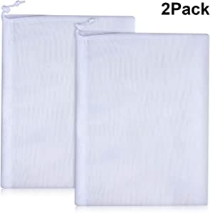 Fine Mesh Bag Filter Bags Vacuum Pool Cleaner Bags Mesh Leaf Bag with Pull and Lock Cord for Pool Leaf Cleaning (2)