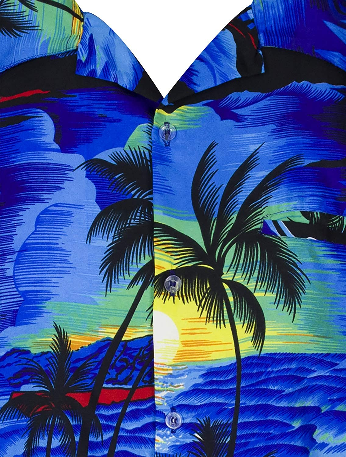 King Kameha Hawaiian Camicia per Uomo Funky Casual Button Down Very Loud Shortsleeve Surf Unisex