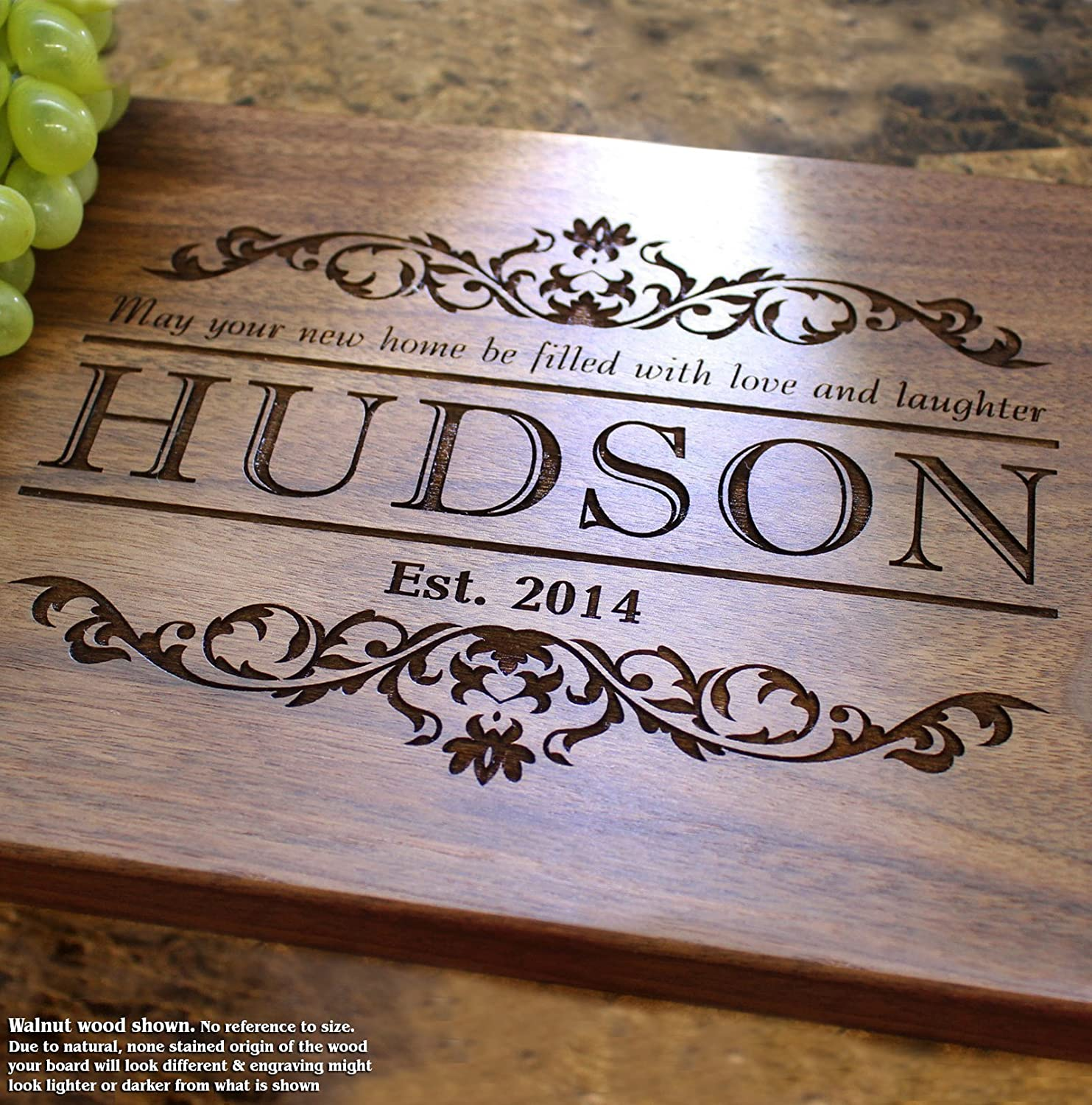Housewarming Personalized Engraved Cutting Board- Wedding Gift, Anniversary Gifts, Housewarming Gift,Birthday Gift, Corporate Gift, Award, Promotion. #301