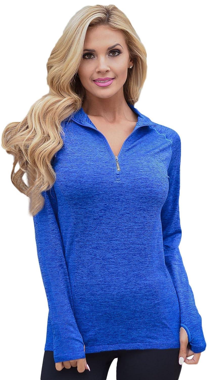 Amazon.com: Dear-Queen Fitness Sportswear Shirt Women Slim ...