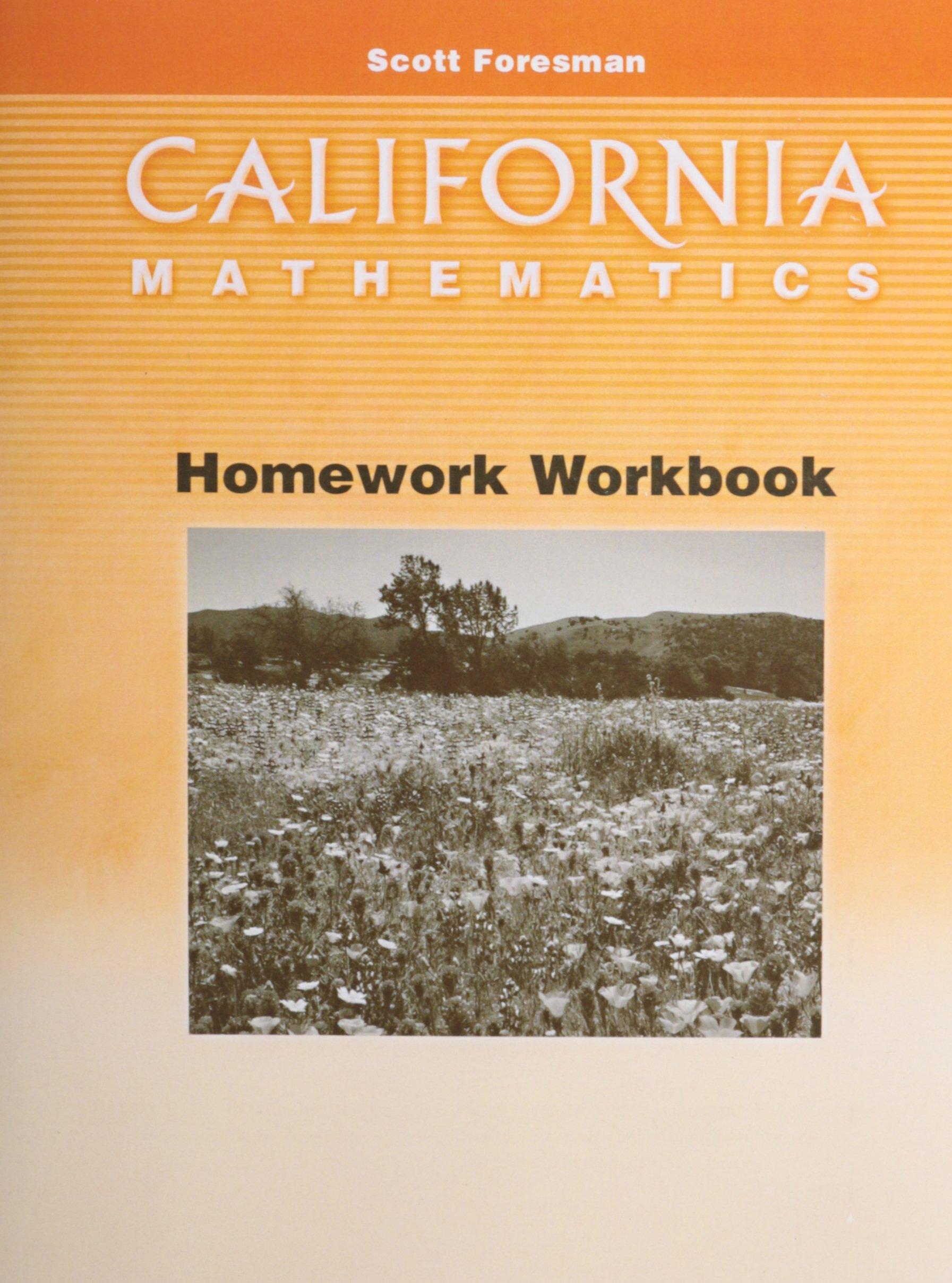 California Mathematics Homework Workbook Grade 3: Scott Foresman ...