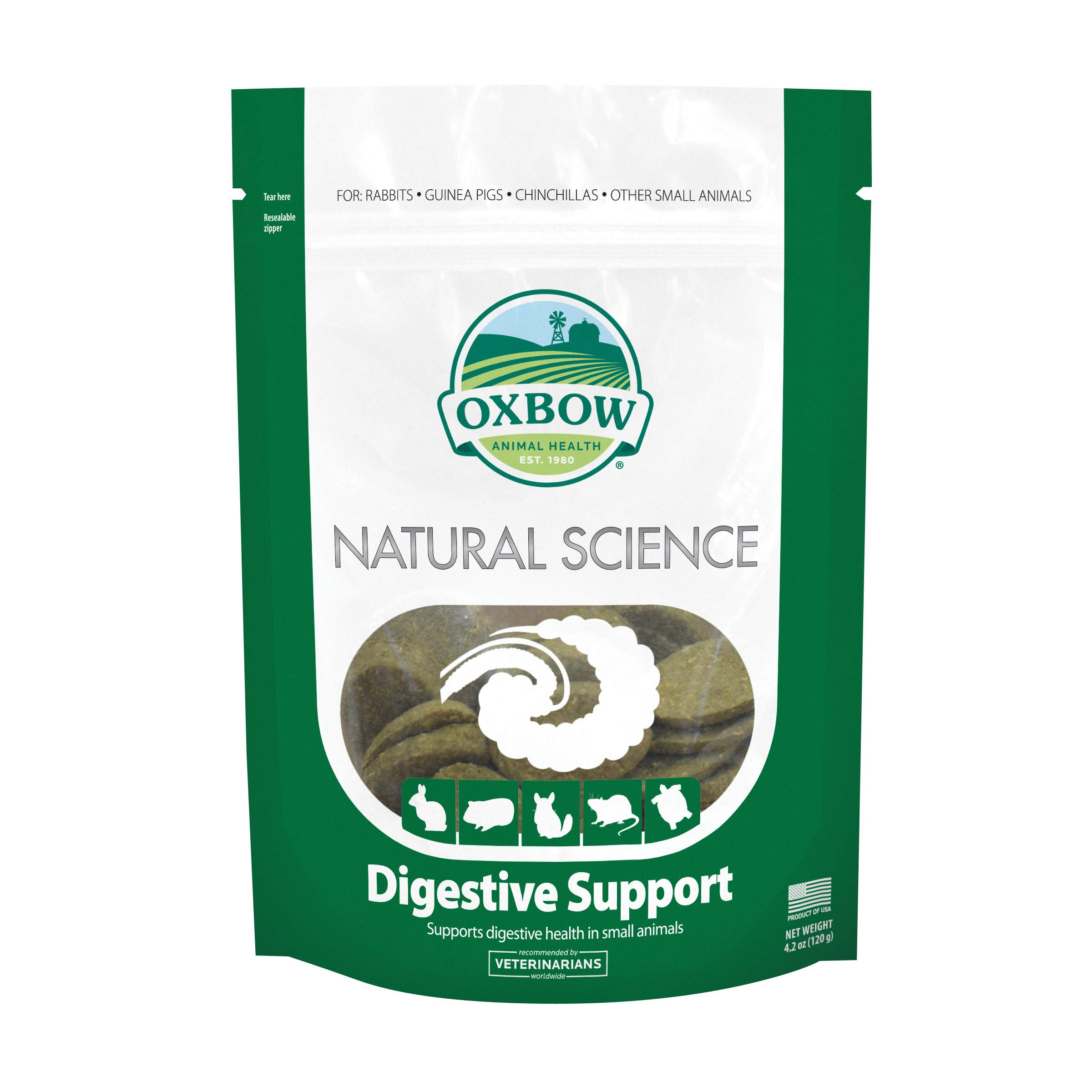Oxbow Natural Science Digestive Supplement - High Fiber Supports Digestive Health in Small Animals, 4.2 oz.