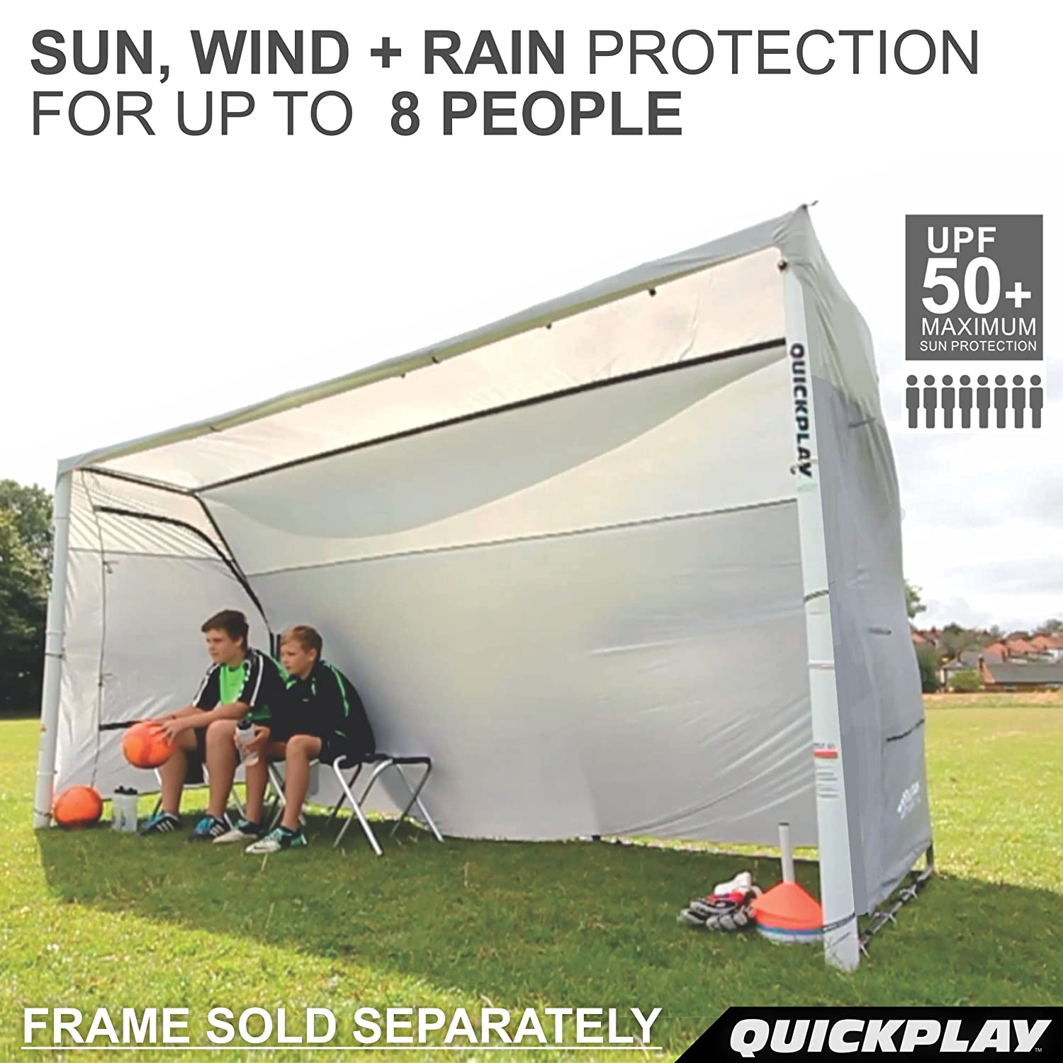 Amazon.com  QUICKPLAY Portable Soccer Team Shelter Cover Only - designed to fit the QUICKPLAY 12x6u0027 Fold Away Soccer Goal frame  Sports u0026 Outdoors  sc 1 st  Amazon.com & Amazon.com : QUICKPLAY Portable Soccer Team Shelter Cover Only ...