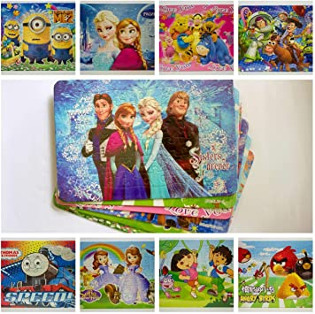 Gifts Collection Kids Animated Cartoon Character Puzzle Specially Designed for Boys Girls for Increasing Logical Skills- Pack of 6