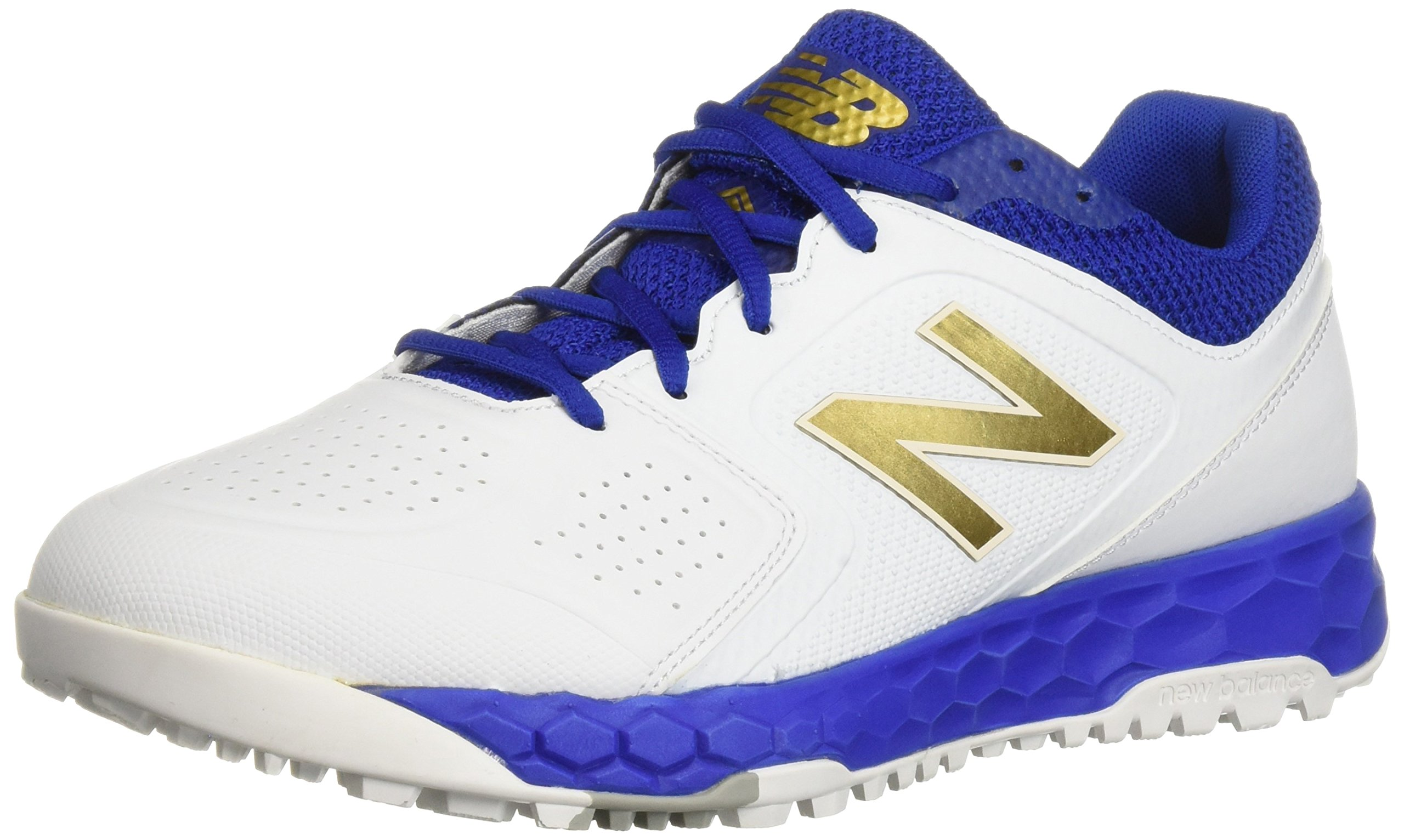 New Balance Women's Velo V1 Turf Softball Shoe, Royal/White, 10.5 B US by New Balance