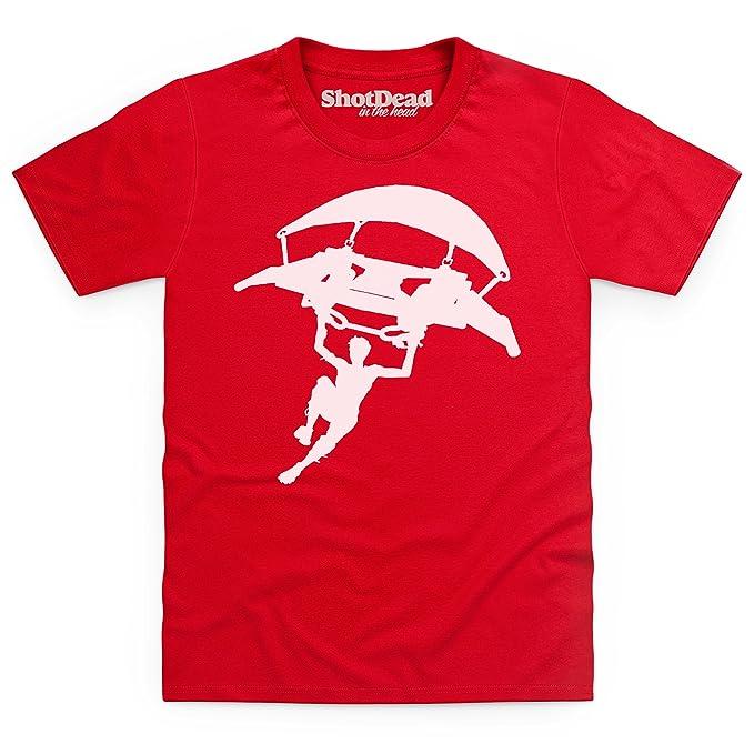 Kids Tees Battle Royale Glider Camiseta Infantil, para Nios