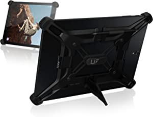 UAG Rugged Exoskeleton Universal Android Tablet Case [Black] with Stand and Pen Holder for 9 & 10-Inch Tablets including Galaxy Tab S3, Tab S2, Tab A, Tab E & More