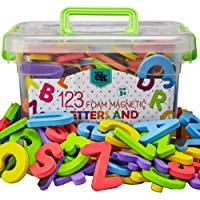 Magnetic Foam Letters and Numbers Premium Quality ABC, 123 Foam Alphabet Magnets | Educational Toy for Preschool…