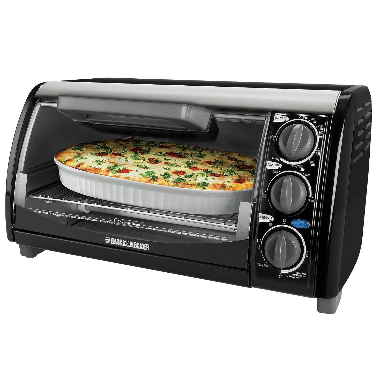 Uncategorized Black & Decker Kitchen Appliances amazon com black decker tro490b 1200 watt 4 slice countertop oven and broiler with removable crumb tray toaster ovens k