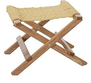 product image for Nags Head Hammocks Cumaru Folding Rope Footstool, Tan DuraCord