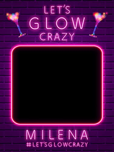 Amazon Com Glow Birthday Neon Photobooth Prop Birthday Selfie