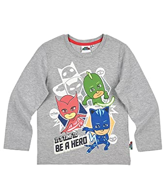 27963b9fc12a9 Pyjamasques Garçon Tee-shirt manches longues - gris  Amazon.fr ...