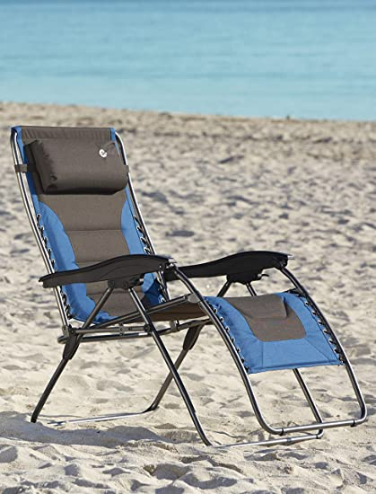 Superbe Amazon.com: Two Tone Extra Wide Zero Gravity Chair (Blue): Sports U0026 Outdoors