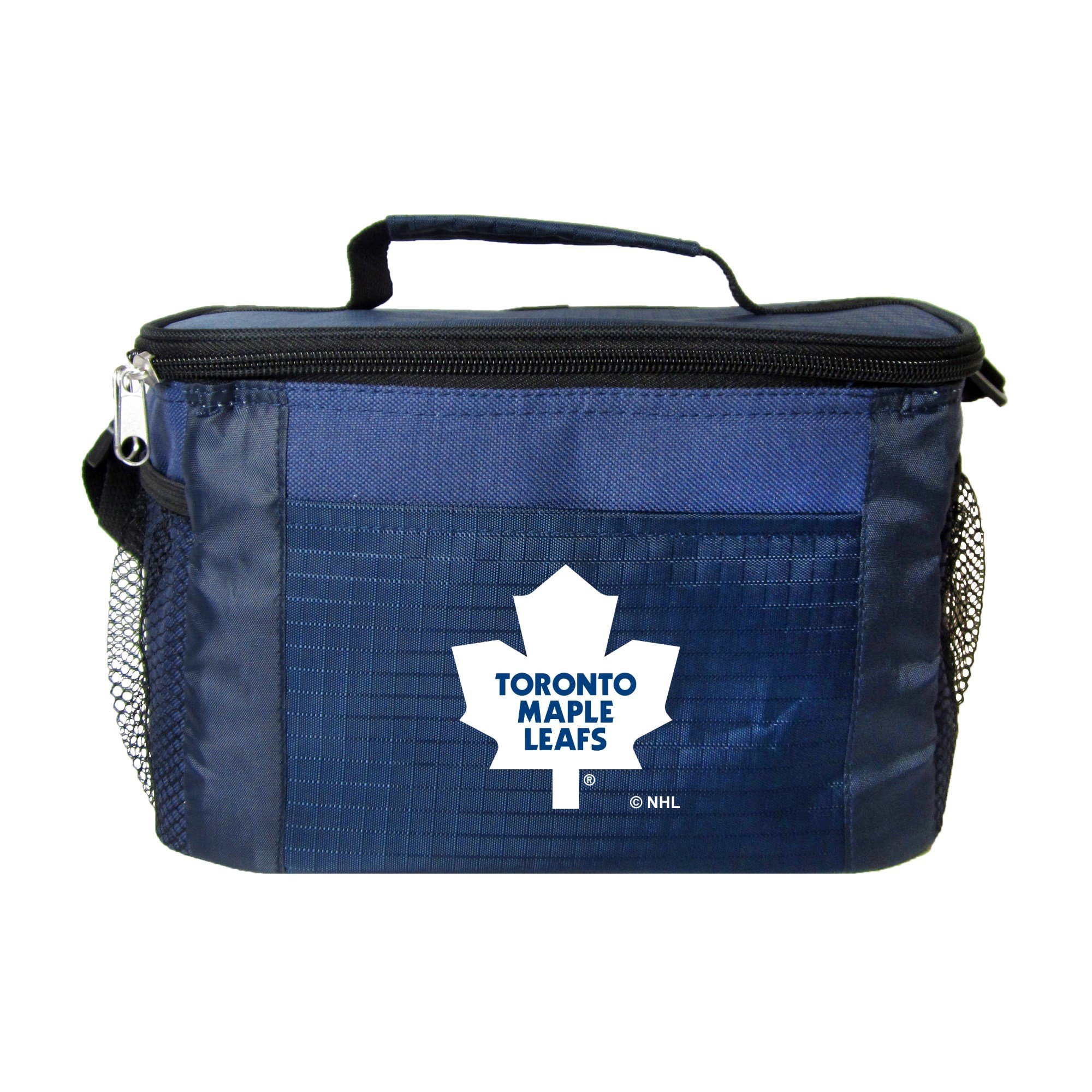 NHL Toronto Maple Leafs Insulated Lunch Cooler Bag with Zipper Closure, Navy