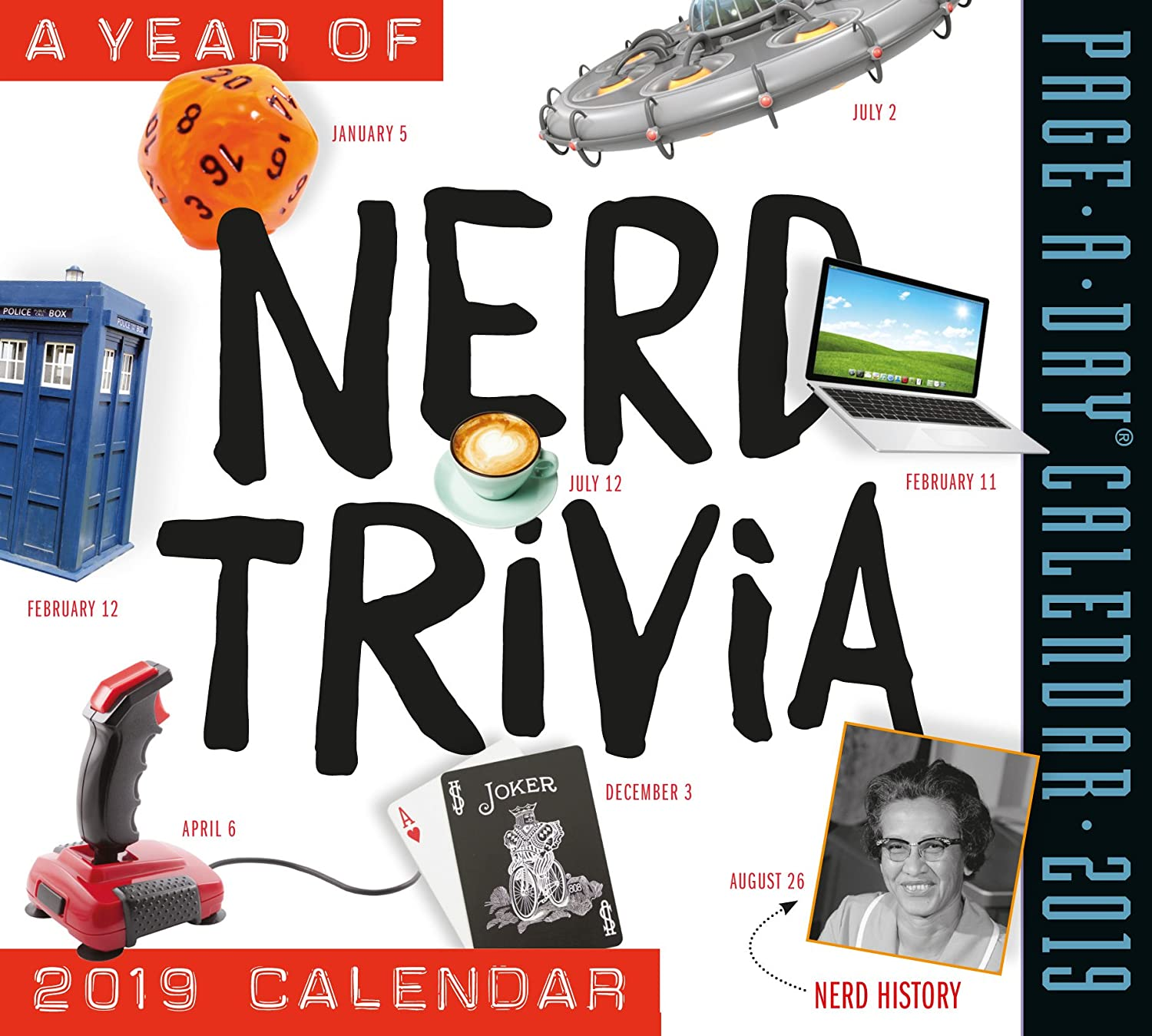 """365 Days of Nerd Trivia Page-A-Day Calendar 2019 [6"""" x 6"""" inches]"""