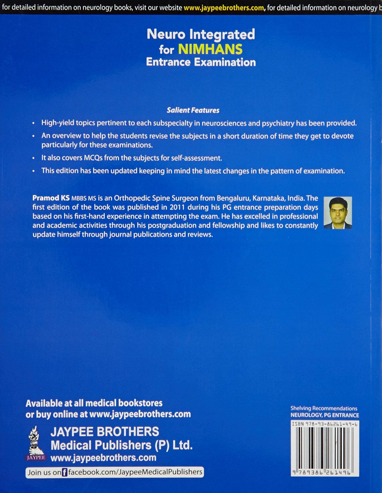 Buy Neuro Integrated for NIMHANS Entrance Examination (PGMEE