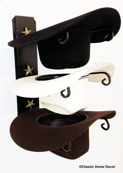Amazon.com: Sombrero vaquero, color negro con oro estrellas ...