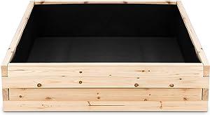 Cedar Raised Garden Bed Kit - Fast Assembly, No Tools Needed - 1.5