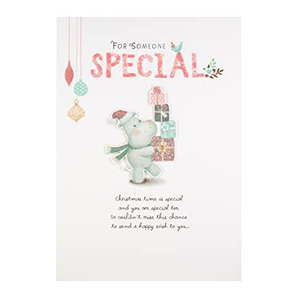 Auguri Di Natale A Una Persona Speciale.Hallmark Biglietto Una Persona Speciale Happy Wish Auguri